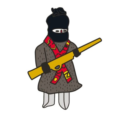 Muñeco Zapatista Pin